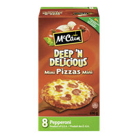 McCain Pizza Minis Deep'n Delicious Pepperoni (8 per pack - 696g)  - Urbery