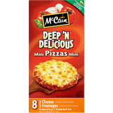 McCain Deep 'n Delicious Mini Pizzas 3 Cheese (652g)