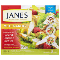 Janes Meal Makers Oven Roasted Carved Chicken Breasts (550g)  - Urbery
