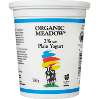 Organic Meadow Organic Yogurt, Plain 2% (750g)  - Urbery