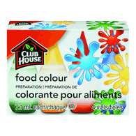 Club House Food Colour, Assorted (28mL)  - Urbery