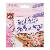 Cake Mate Scribblers, Fashion Colours (4x19g)  - Urbery