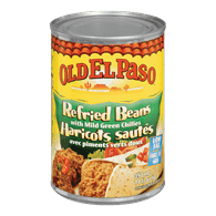 Old El Paso Refried Beans with Mild Green Chilies (398mL)  - Urbery
