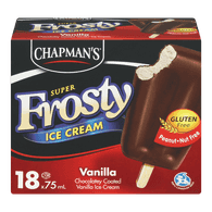 Chapman's Super Frosty Ice Cream Bars, Vanilla (18x75mL)