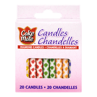 Cake Mate Candles, Diamond (20ea)  - Urbery