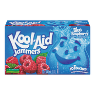 Kool Aid Jammers Juice Blue Raspberry (10x180mL)  - Urbery