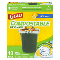 Glad Compostable Bags, Tall (10ea)  - Urbery