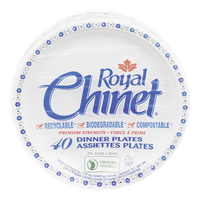 Royal Chinet Dinner Plates Premium Strength (40 e.a)  - Urbery