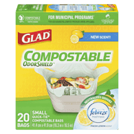 Glad Easy-Tie Compostable Bags, Small (20ea)  - Urbery