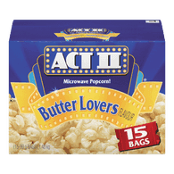 Act II Microwave Popcorn, Butter Lovers (1500kg)  - Urbery