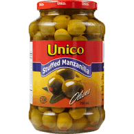 Unico Manzanilla Olives Stuffed (750ml)  - Urbery