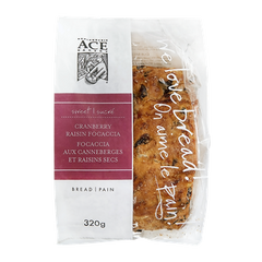 ACE Bakery Focaccia Cranberry Raisin (320g)  - Urbery