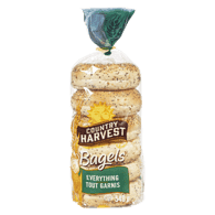 Country Harvest  Bagels, Everything With Garlic And Onion (6x90g)  - Urbery