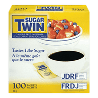 Sugar Twin Calorie-Free Sweetener, Packets (100ea)  - Urbery