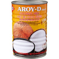 Aroy-D Canned  Coconut Milk, Light (400mL)  - Urbery