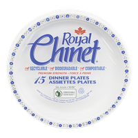 Royal Chinet Plates Dinner (15 e.a)