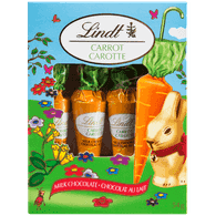 Lindt Carrot Milk Chocolate, 4-Pack (54g)  - Urbery