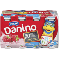 Danone Danifalse Drinkable Yogurt, Raspberry (8x93mL)  - Urbery