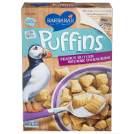 Barbara's Bakery Puffins Cereal, Peanut Butter (312g)  - Urbery