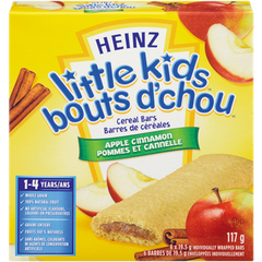 Heinz Little Kids Baby Food Cereal Bars Apple & Cinnamon (117g)  - Urbery