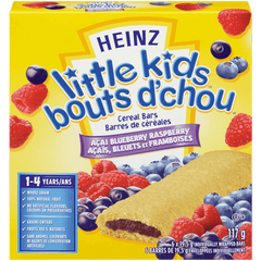 Heinz Little Kids Baby Food Cereal Bars, Acai Blueberry Raspberry (117g)  - Urbery