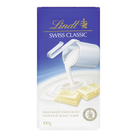 Lindt Swiss Classic White Chocolate (100g)  - Urbery