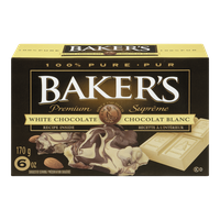 Kraft Baker's White Chocolate Squares (170g)