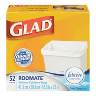 Glad Kitchen Catchers Bags, Roomate (52ea)  - Urbery