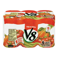 V8 Vegetable Cocktail, Original (6x156mL)  - Urbery