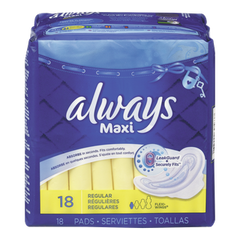 Always Maxi Pad With Wings (18ea)  - Urbery