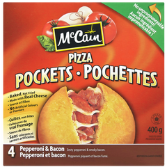 McCain Pizza Pockets Pepperoni & Bacon (400g)  - Urbery