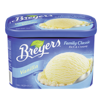 Breyers Ice Cream Tub  Family Classic French Vanilla (1.66L)
