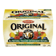 Astro Original Balkan Style Yogurt, Peach/Strawberry/Blueberry/Fieldberry (12x100g)  - Urbery
