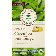 Traditional Medicinals Organic Green Tea with Ginger (20ea)  - Urbery