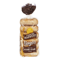Country Harvest  Bagels, Whole Wheat Sesame (6x90g)  - Urbery