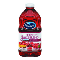 Ocean Spray 100% Juice Blend, Cranberry Raspberry (1.77L)  - Urbery