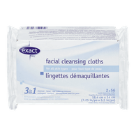 Exact 3-in-1 Facial Cleansing Cloths (112ea)  - Urbery