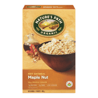 Nature's Path Organic Hot Oatmeal, Maple Nut (400g)  - Urbery