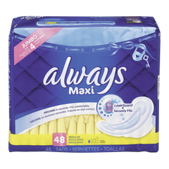 Always Maxi Pads Regular Pads with Wings (48ea)  - Urbery