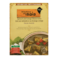 Kitchens of India Curry Spinach Cottage Cheese (270ML)