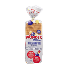 Wonder Thin Sandwich Bread White (675g)  - Urbery