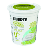 Liberte Organic Yogurt, Plain 0% (750g)