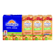 SunRype Fruit Plus Veggies Juice, Raspberry Orange (5x200mL)  - Urbery
