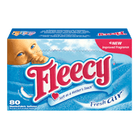 Fleecy Dryer Sheets, Fresh Air (80sh)  - Urbery