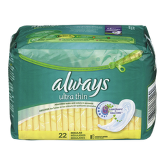 Always Maxi Pad Ultra Regular non-wing Unscented Thin Pads (22ea)  - Urbery