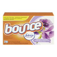Bounce Dryer Sheets, Spring & Renewal with Febreze (70sh)  - Urbery