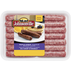 Johnsonville Breakfast Sausage, MAPLE SYRUP FLAVOUR  (375g)  - Urbery