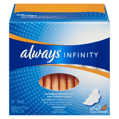 Always Maxi Pad Infinity Overnight With Wings (14ea)  - Urbery