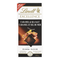 Lindt Excellence Dark Caramel and Sea Salt (100g)  - Urbery