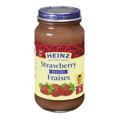 Heinz Jr. Baby Food Strawberries (213mL)  - Urbery